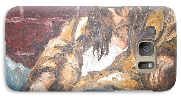 Galaxy Case featuring the painting Alone by Cheryl Pettigrew