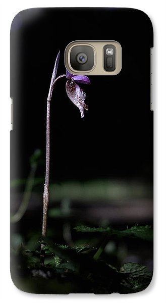 Galaxy Case featuring the photograph Alone In The Forest by Betty Depee