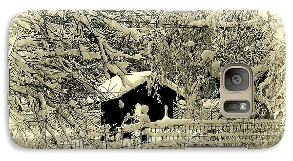 Galaxy Case featuring the photograph Alone In The Woods by Karen Kersey