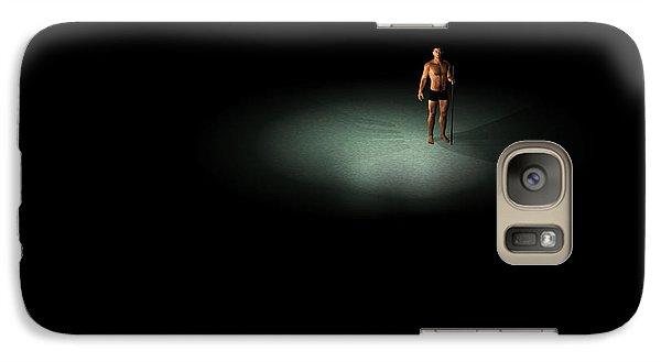 Galaxy Case featuring the digital art Alone... by Tim Fillingim