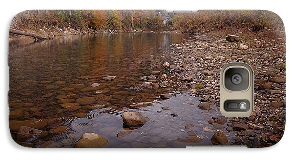 Galaxy Case featuring the photograph Along The Autumn Stream by Renee Hardison
