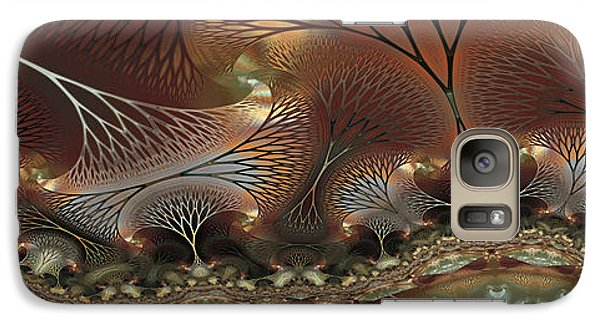 Galaxy Case featuring the digital art Along The Banks by Kim Redd
