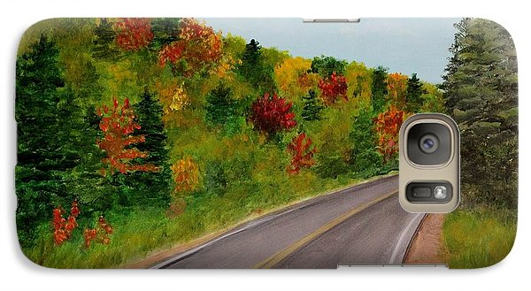 Galaxy Case featuring the painting Along The Cabot Trail by Jesslyn Fraser