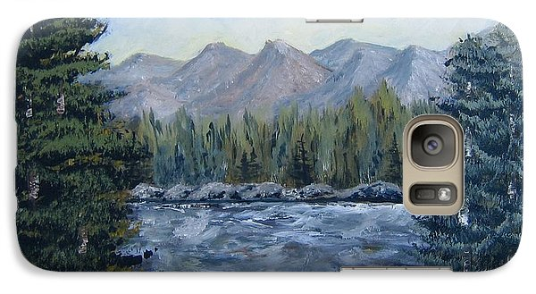 Galaxy Case featuring the painting Along The Way by Suzanne Theis