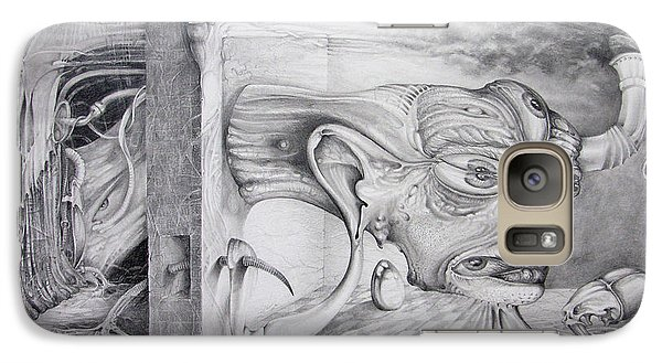 Galaxy Case featuring the drawing Alpha And Omega - The Reconstruction Of Bogomils Universe by Otto Rapp