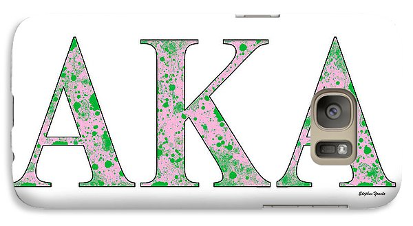Galaxy Case featuring the digital art Alpha Kappa Alpha - White by Stephen Younts