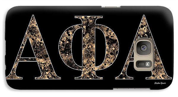 Galaxy Case featuring the digital art Alpha Phi Alpha - Black by Stephen Younts