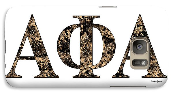 Galaxy Case featuring the digital art Alpha Phi Alpha - White by Stephen Younts