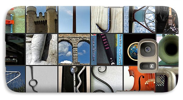 Galaxy Case featuring the photograph Alphabet by Farol Tomson