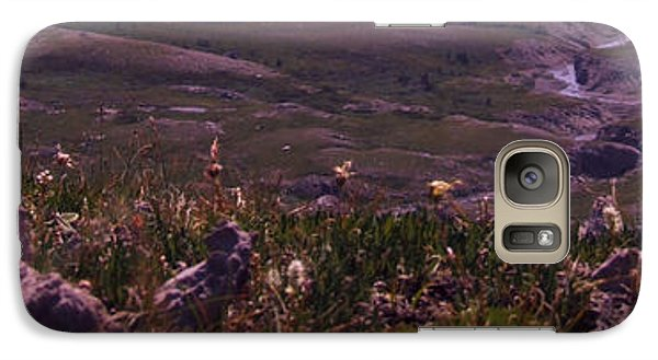 Galaxy Case featuring the photograph Alpine Floral Meadow by Marianne NANA Betts