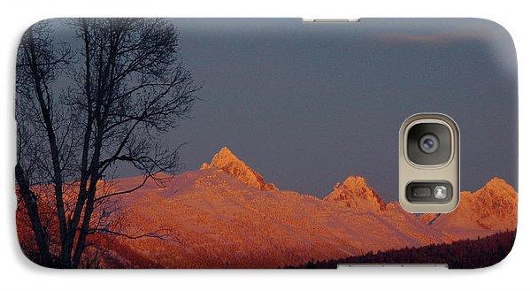 Galaxy Case featuring the photograph Alpenglow by Raymond Salani III