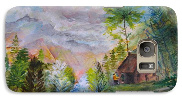 Galaxy Case featuring the painting Alpine Landscape by Egidio Graziani