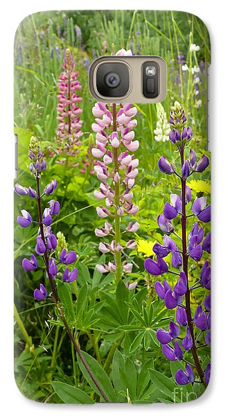 Galaxy Case featuring the photograph Alpine Lupines by Maria Janicki