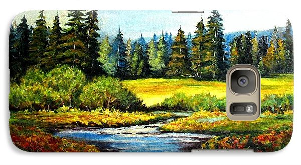 Galaxy Case featuring the painting Alpine Meadow by Hazel Holland