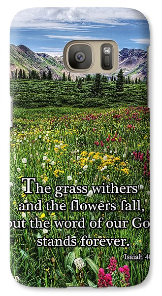 Galaxy Case featuring the photograph Alpine Meadow by Priscilla Burgers