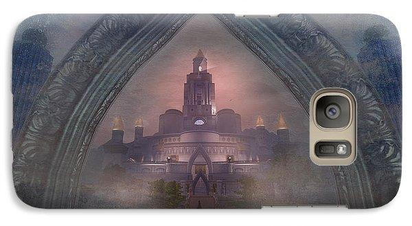 Galaxy Case featuring the digital art Alqualonde Castle by Kylie Sabra