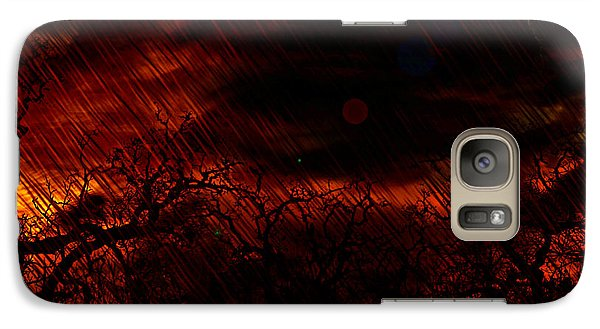 Galaxy Case featuring the painting Already Rained by Persephone Artworks