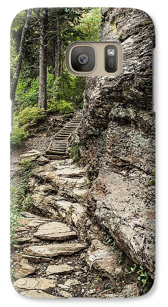 Galaxy Case featuring the photograph Alum Cave Trail by Debbie Green