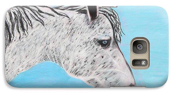Galaxy Case featuring the painting Alvaro Stallion by Jeanne Fischer