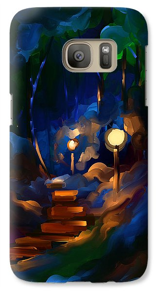 Galaxy Case featuring the painting Always On My Mind by Steven Lebron Langston