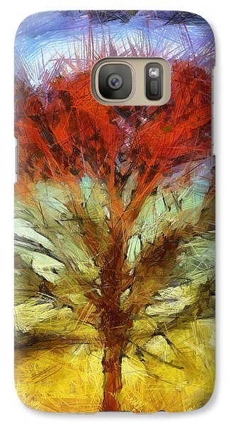 Galaxy Case featuring the drawing Always Reaching Up by Joe Misrasi