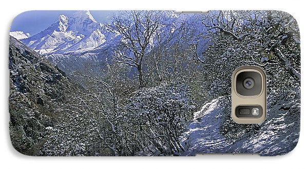 Galaxy Case featuring the photograph Ama Dablam In Winter by Rudi Prott