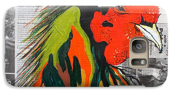 Galaxy Case featuring the painting Amadeo The Tuscan Rooster by Janice Rae Pariza