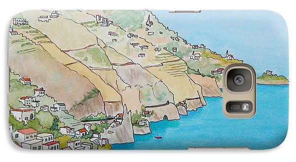 Galaxy Case featuring the painting Amalfi Coast Praiano Italy by Mary Ellen Mueller Legault
