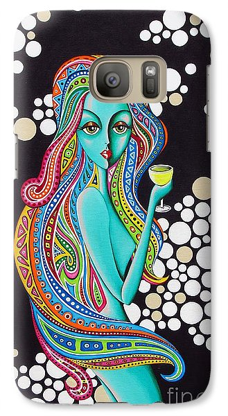 Galaxy Case featuring the painting Amanda  Groovy Chick Series by Joseph Sonday