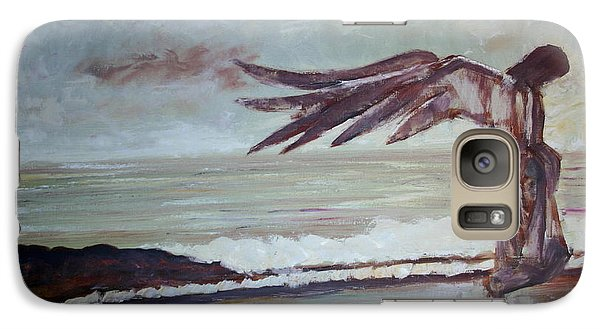 Galaxy Case featuring the painting Amaranth by Jarmo Korhonen aka Jarko