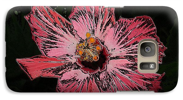 Galaxy Case featuring the digital art Amazing Flower by Oksana Semenchenko
