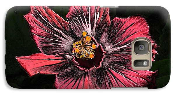 Galaxy Case featuring the digital art Amazing Hibiscus by Oksana Semenchenko