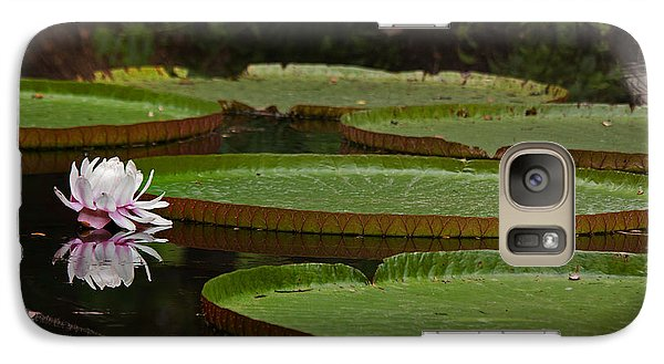 Galaxy Case featuring the photograph Amazon Lily Pad by Farol Tomson