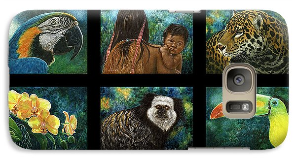 Galaxy Case featuring the mixed media Amazon Series Collage by Sandra LaFaut