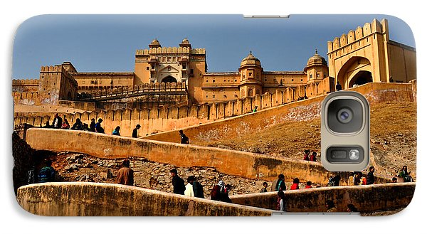 Galaxy Case featuring the photograph Amber Fort by Diane Lent
