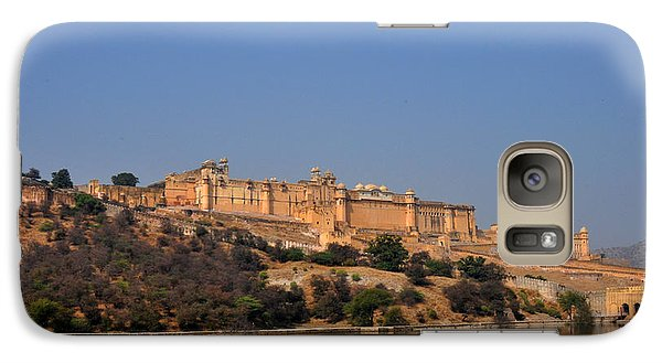 Galaxy Case featuring the photograph Amber Fort Jaipur Rajasthan India by Diane Lent