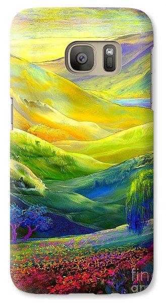 Wildflower Meadows, Amber Skies Galaxy S7 Case
