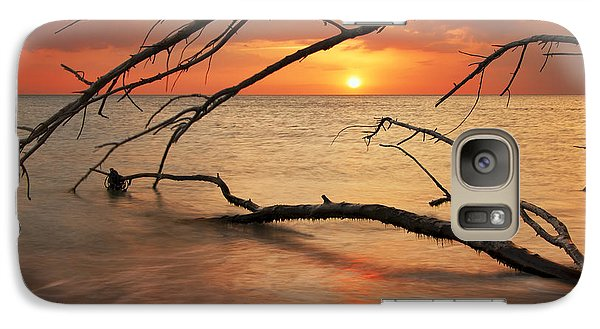 Galaxy Case featuring the photograph Amber Sunset by Gouzel -