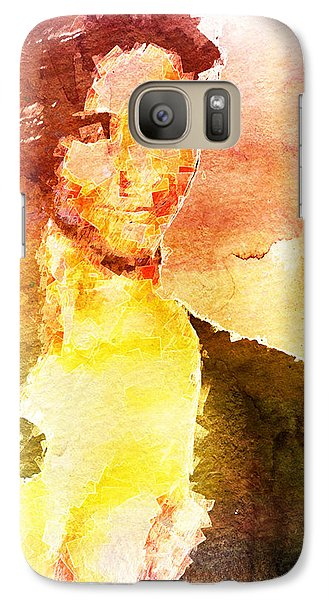 Galaxy Case featuring the digital art Ambiguous Woman by Andrea Barbieri