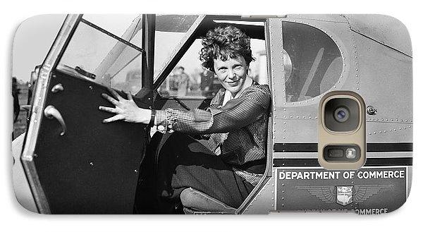 Airplanes Galaxy S7 Case - Amelia Earhart - 1936 by Daniel Hagerman