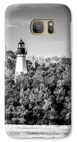 Galaxy Case featuring the photograph Amelia Island Lighthouse by Wade Brooks