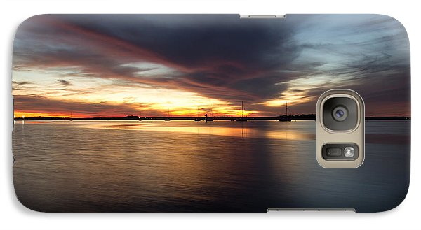 Galaxy Case featuring the photograph Amelia Island Sunset by Wade Brooks