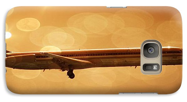 Galaxy Case featuring the digital art American Airlines Md80  by Aaron Berg