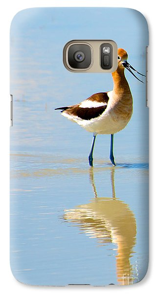 Galaxy Case featuring the photograph American Avocet by Vinnie Oakes