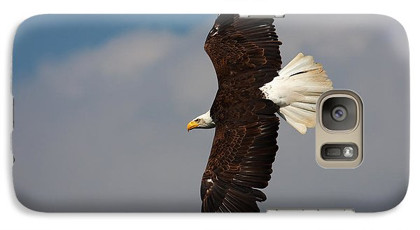 Galaxy Case featuring the photograph American Bald Eagle In Flight by Nick  Biemans