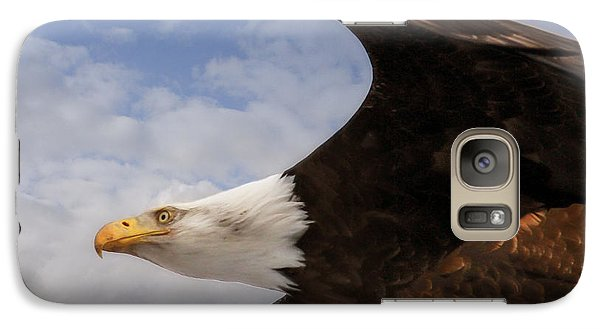 Galaxy Case featuring the photograph American Bald Eagle Up Close And Personal by Eleanor Abramson