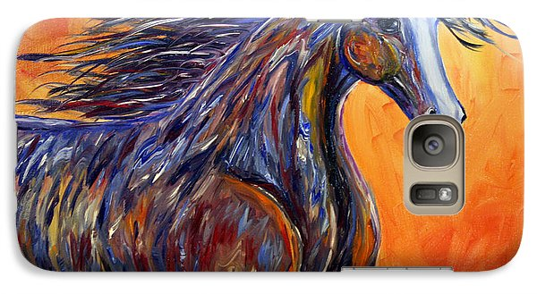 Galaxy Case featuring the painting American Beauty Abstract Horse Painting by Jennifer Godshalk