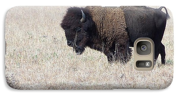 Galaxy Case featuring the photograph American Bison by Alan Lakin