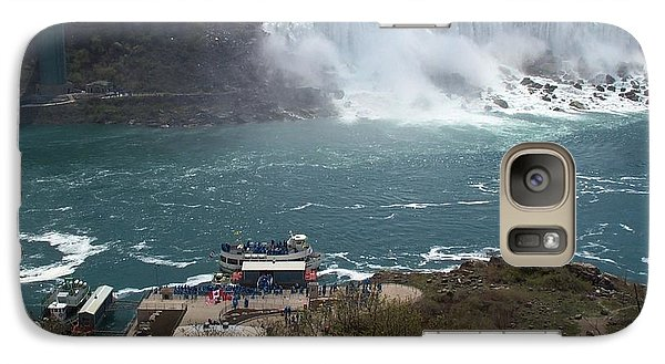 Galaxy Case featuring the photograph American Falls From Above The Maid by Barbara McDevitt
