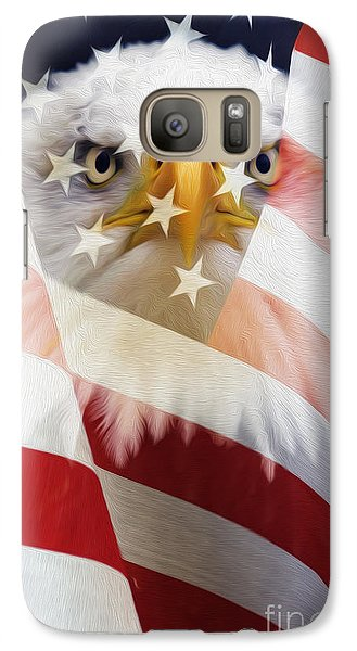 American Flag And Bald Eagle Montage Galaxy S7 Case